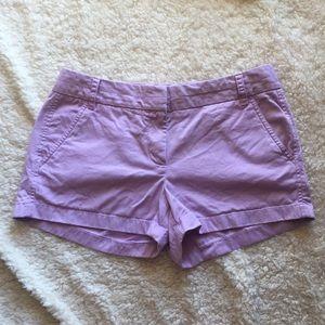 J. Crew Lilac Chino Shorts 3 inch inseam